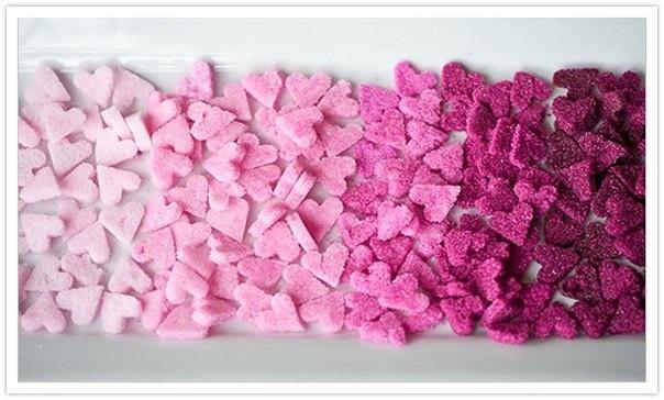 Цветной сахар необычной формы