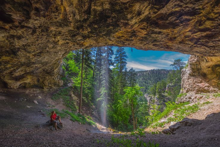 Community Cave in Spearfish Canyon, South Dakota || One of 8 South Dakota attractions highlighted in this blog post.
