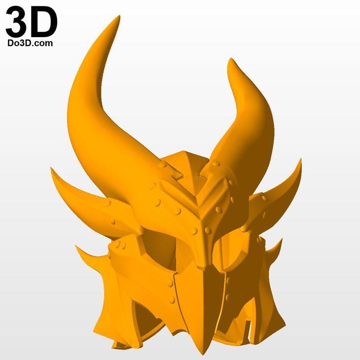 3D Printable Model: Daedric Helmet and Armor (Skyrim) Elder Scrolls Online (ESO) | Print File Format: STL – Do3D.com