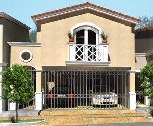 Modelos de fachadas de casas de dos pisos pequeñas casa garage de frente #modelosdecasasdedospisos