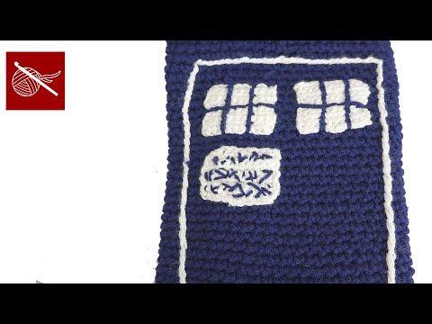 Dr Who Crochet Tardis Tablet Cover Tutorial