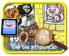 Tree Cats - Find the Differences Game for Kids