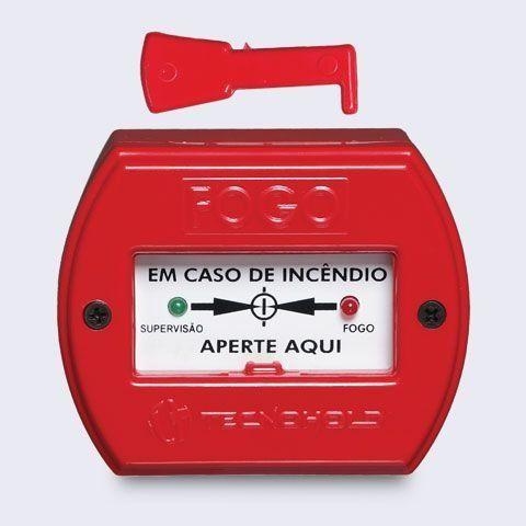 Acionador manual endereçável de alarme de incêndio IP 20