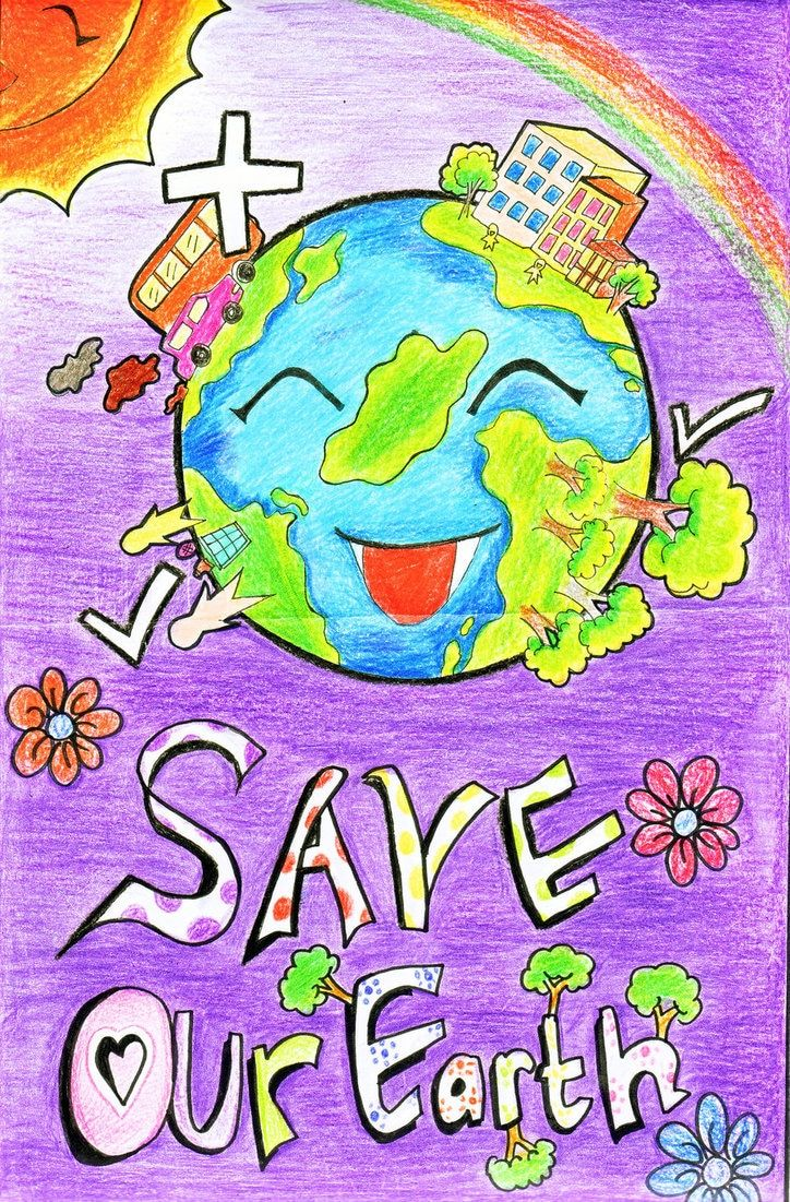 Handmade Posters On Save Earth From Global Warming 2016