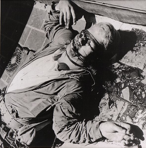 Charles Whitman, the Texas clock-tower sniper, after he was taken down by a sniper himself 1966.