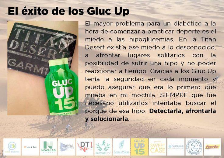 """""""Considero a los Gluc Up 15 como un producto fundamental en mi reto de la @TitanDesert . ¡Han sido de lo mejor!"""", Antonio Lledó"""