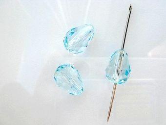 Хрустальная капля 13,5*9мм кристальный светло-голубой CRYSTAL LIGHT BLUE-46100