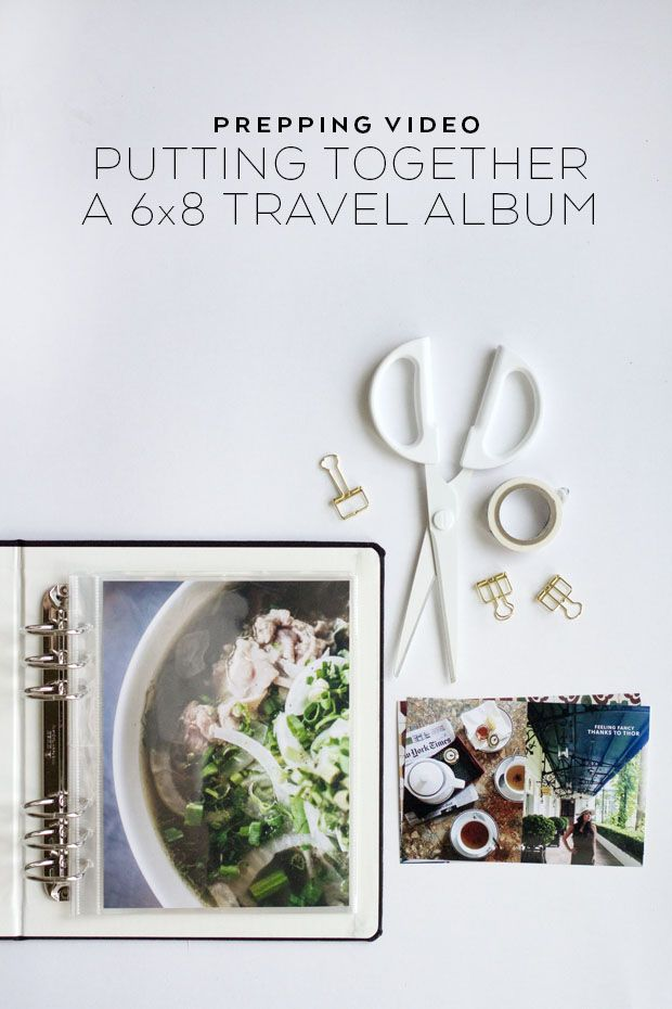 Putting together a travel scrapbook with lots of photos, journaling and vacation memorabilia. #diy (Great idea for a wedding honeymoon album!)