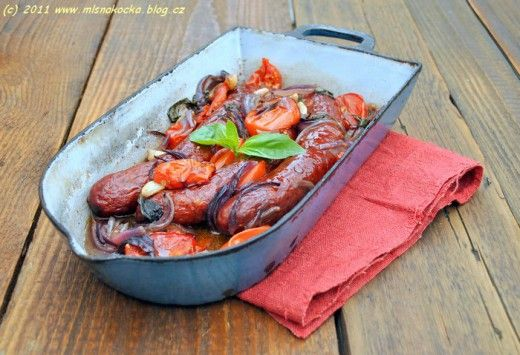 Baked Ostrich Sausages
