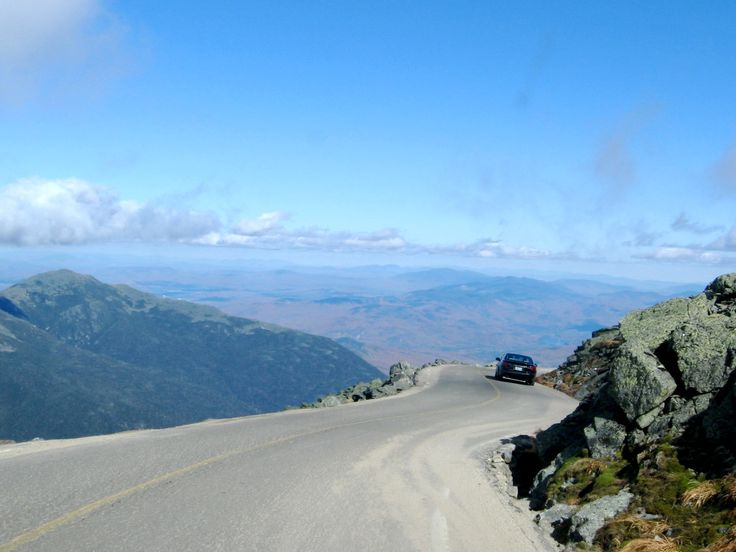 Mt Washington Auto Road in the White Mountains of New Hampshire. http://visitingnewengland.com/blog-photo-tour/2012/01/29/what-its-like-to-drive-the-mt-washington-auto-road/