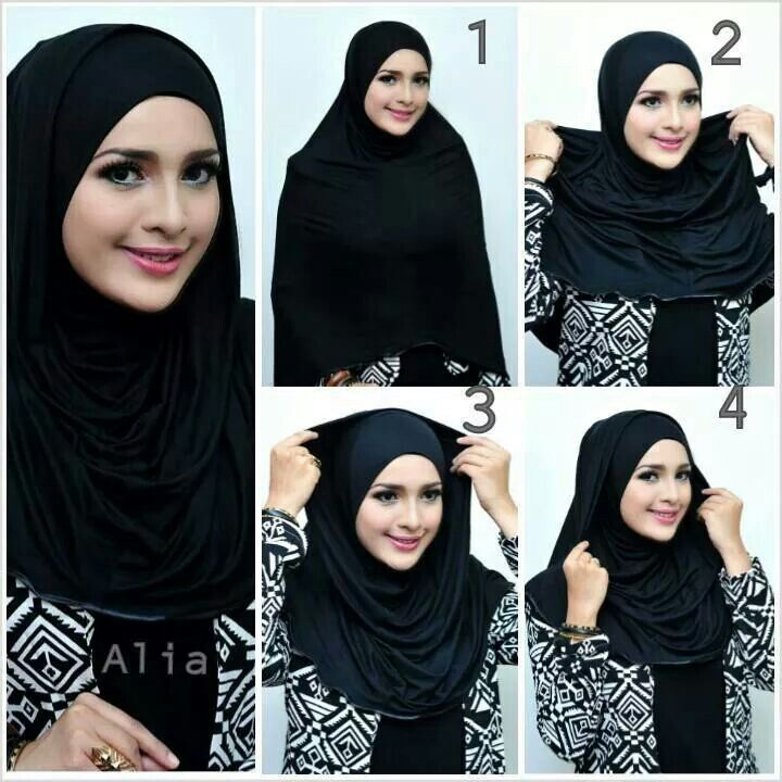 Full Chest Covered Hijab Tutorial 4 Steps