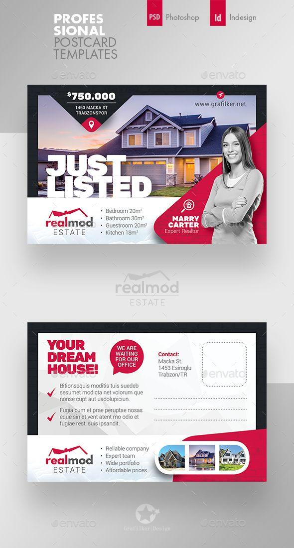 Real Estate Postcard Templates Flaery Banner Listovki