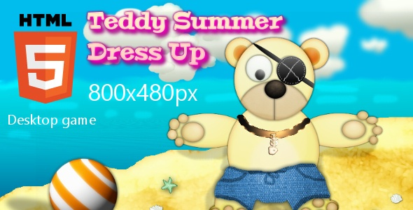 Teddy Dress-Up HTML5 Game. A fun dress-up game for kids.