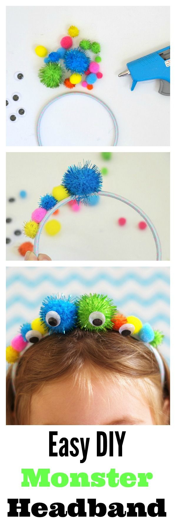 Easy DIY Monster Headband! Fun for Halloween and pretend play. Plus super easy to make.