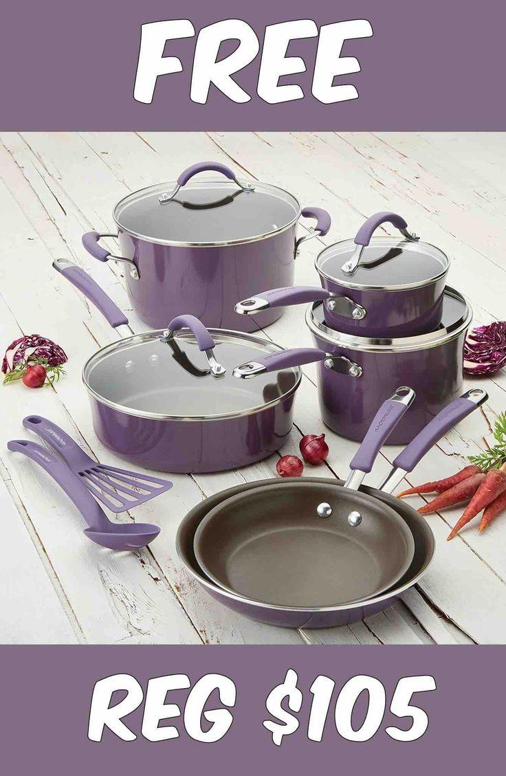FREE Rachael Ray 12-Piece Cucina Porcelain Cookware Set!