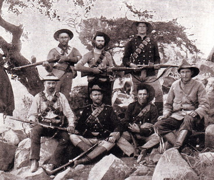 Boers with Mauser rifles bought from Germany