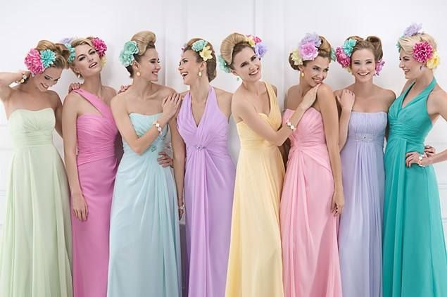 Love this for bridesmaids...except add some orange. :)