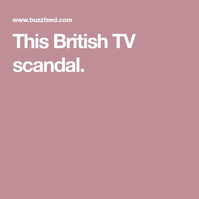 This British TV scandal.