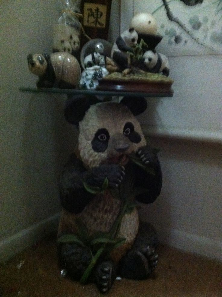 Oh I Want This Too Panda Glass End Table Pandas