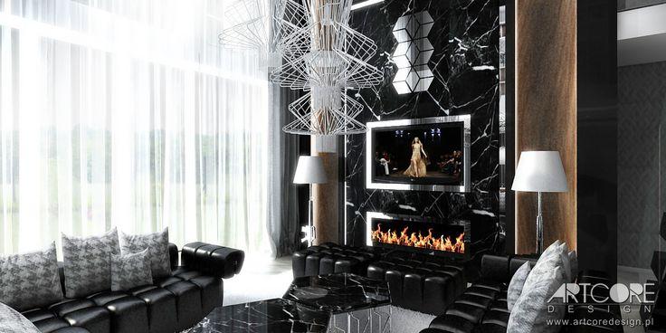 Projekt wnętrza luksusowej rezydencji. Więcej na www.artcoredesign.pl .