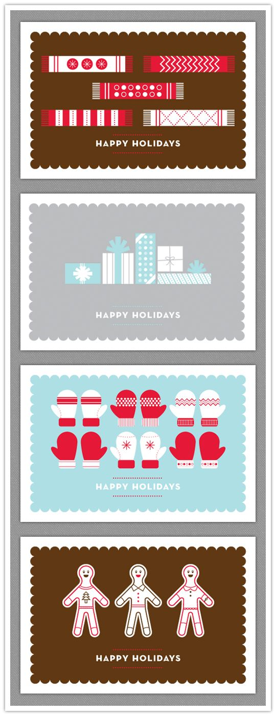holiday cards. http://www.inspiredbride.net/2009/12/10/happy-holidays-from-ib-and-company/