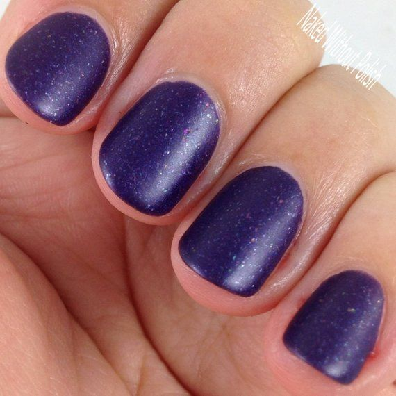 Bow Ties Are Cool Nail Polish – matte metallic purple with metallic flakies