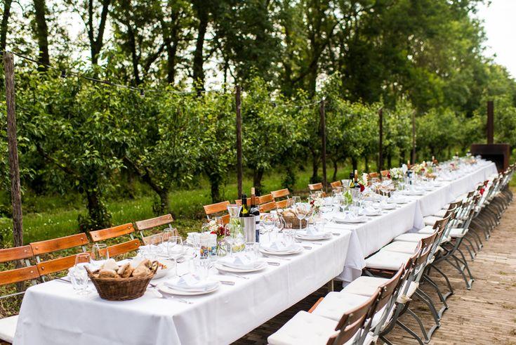Heerlijk buiten dineren bij landgoed de olmenhorst in Lisserbroek