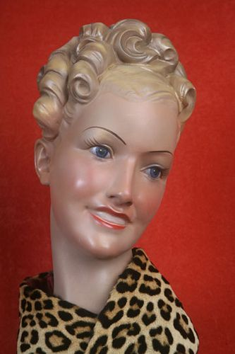 Vintage French mannequin head