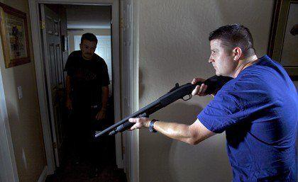 Home Defense Shotgun vs. Home Defense Handgun | Self Defense And Survival Skills by Survival Life at http://guncarrier.com/home-defense-shotgun-vs-home-defense-handgun/