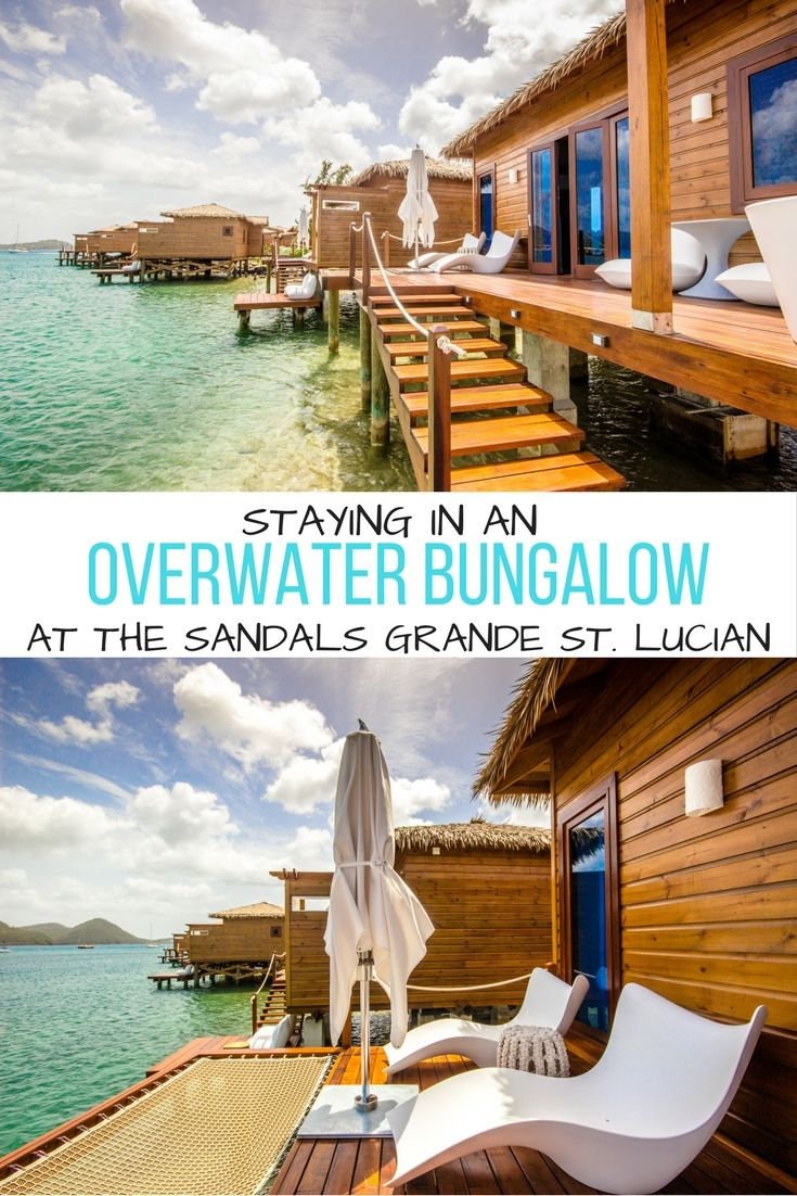 You can now enjoy the luxury of an overwater bungalow complete with a private butler in the Caribbean, at the gorgeous Sandals Grande St. Lucian resort.   Sandals Resorts Honeymoons