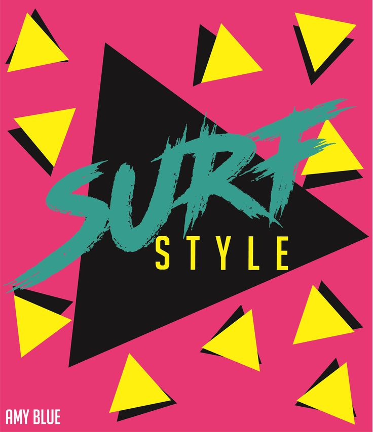 SURF STYLE BY AMY BLUE ART PINK