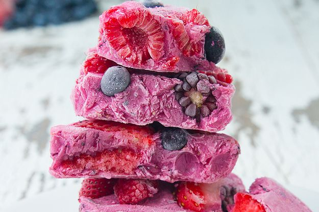 Make Yogurt Bark 4 Ways For A Frozen Summer Treat. Great for teething toddlers!