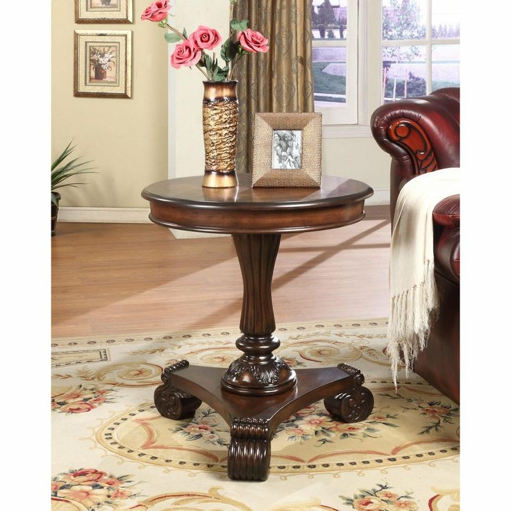 Mahogany Round End Table By Powell Furniture