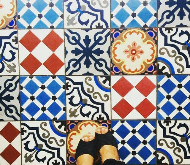 We love the beautiful Victorian-style tile flooring in our Peter Pan room - The Wheatsheaf in Farnham Town Centre.