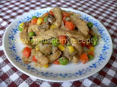 Sójové nudličky se zeleninou