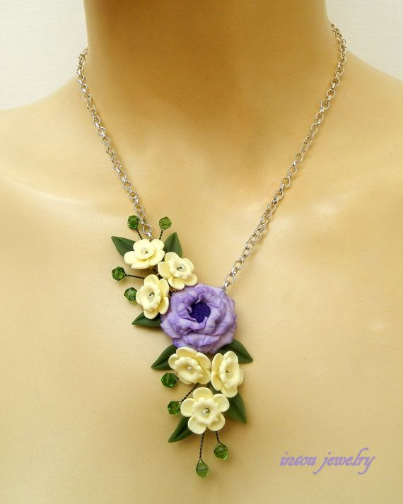 Flower jewelry  Lilac jewelry  Romantic jewelry  by insoujewelry