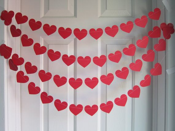 Diy heart banner for Hearts decorations home