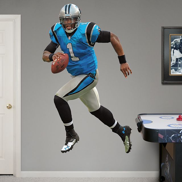 Cam Newton - Home REAL.BIG. Fathead Wall Graphic | Carolina Panthers Wall Decal | Sports Home Décor | Football Bedroom/Man Cave/Nursery