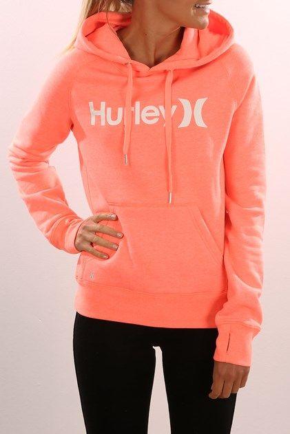 One & Only Pop Fleece Heather Bright Mango