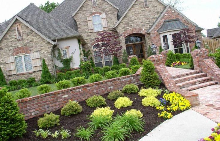 Landscaping is easy get ideas and designs over 7000 for Front lawn garden design