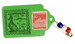 The perfect Australian stamp for World Thinking Day! Use the included rubber stamp to make your swaps then use them for your passports! From MakingFriends.com