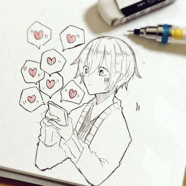Dekor Dekor Anime Sketch Anime Drawings Sketches Cute Drawings
