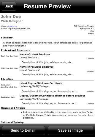 39 best Resume CV Apps images on Pinterest Curriculum, Resume - college resume builder