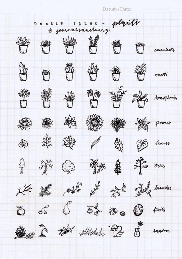 doodle ideas, plants