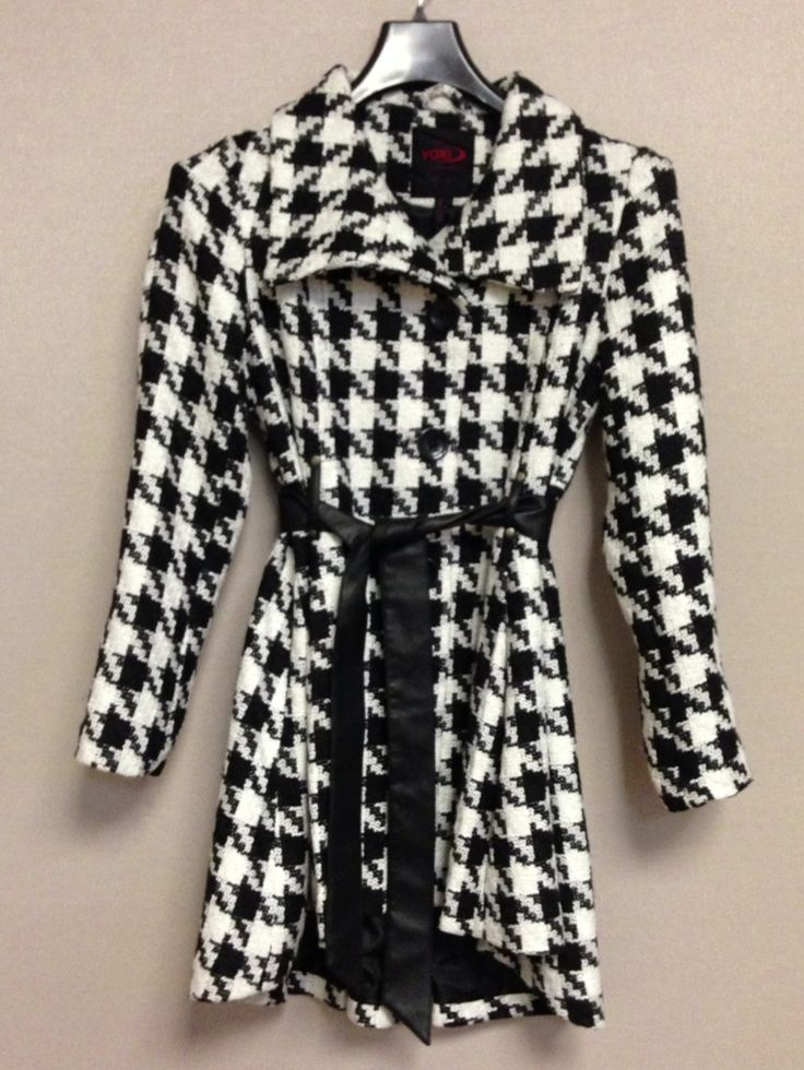Womens houndstooth coats