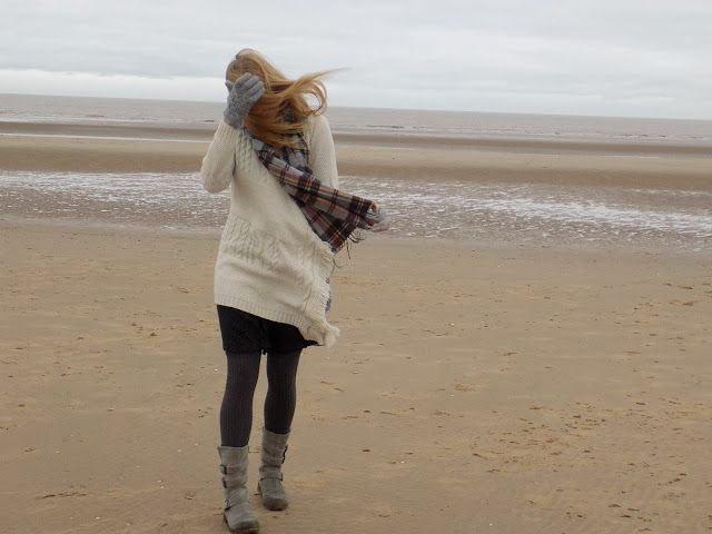 Outfit: Cosy Layers and Biker Boots for Formby Beach.