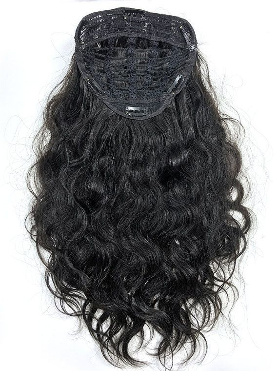 Half Wig With Deep Bodyave Hair in 18 by CUSTOMHAIRZ on Etsy