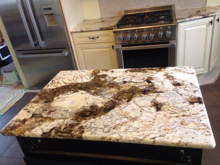 Copenhagen Granite In Cream Cabinets Kitchen