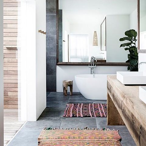 Modern boho bathroom More