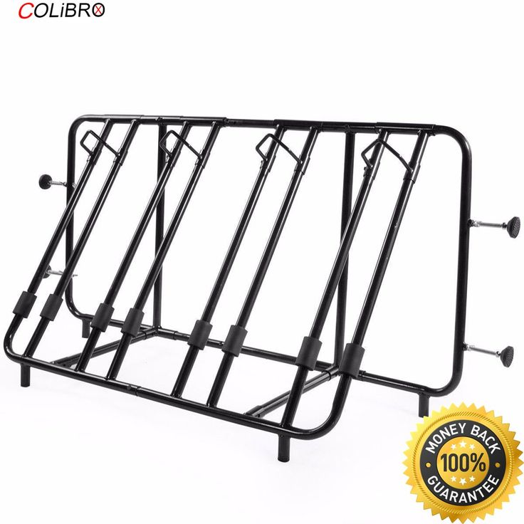 COLIBROX-- New Compact Adjustable Truck Pick Up Bed Mount Carrier Four Bicycle Bike Rack New Compact Adjustable Truck Pick Up Bed Mount Carrier. ✔️ PERFECT QUALITY This Truck Bed Bike Rack, you never have to wrench on your hubs, fiddle with your chain, or find a place to stash your loose wheel. Simply fit your wheel into one of the open slots on your Truck Bike Rack, and you're ready to rock and roll over to your favorite rocky trail head. ✔️ It's equipped with bumper-cushioned screws, so…